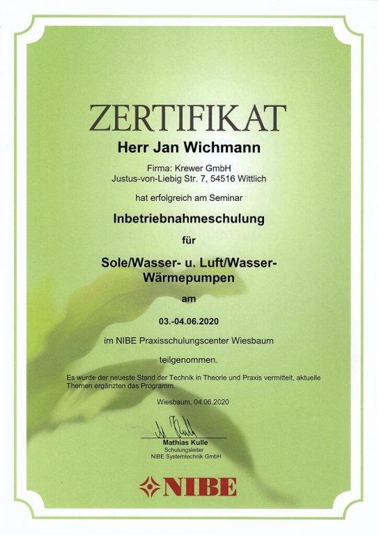Inbetriebnahmeschulung Sole/Wasser- u. Luft/Wasser-Wärmepumpen der Fa. NIBE